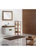 کابینت روشویی سفید قهوه ای HD7002 ایده آل Ideal